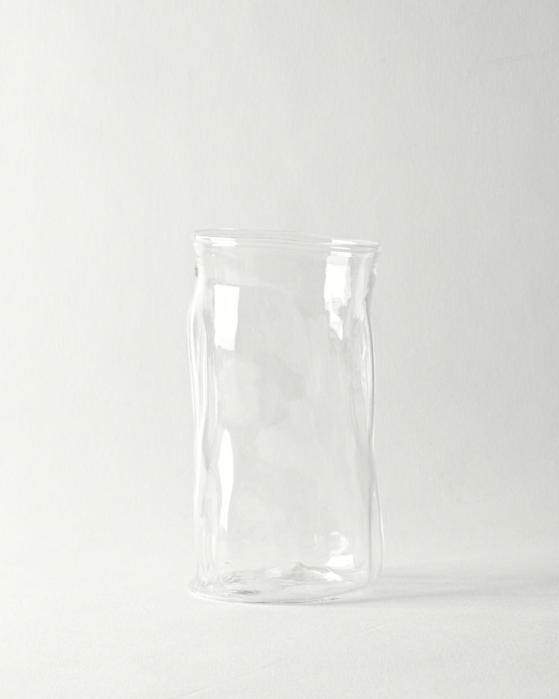 Hand blown dimpled tumblers
