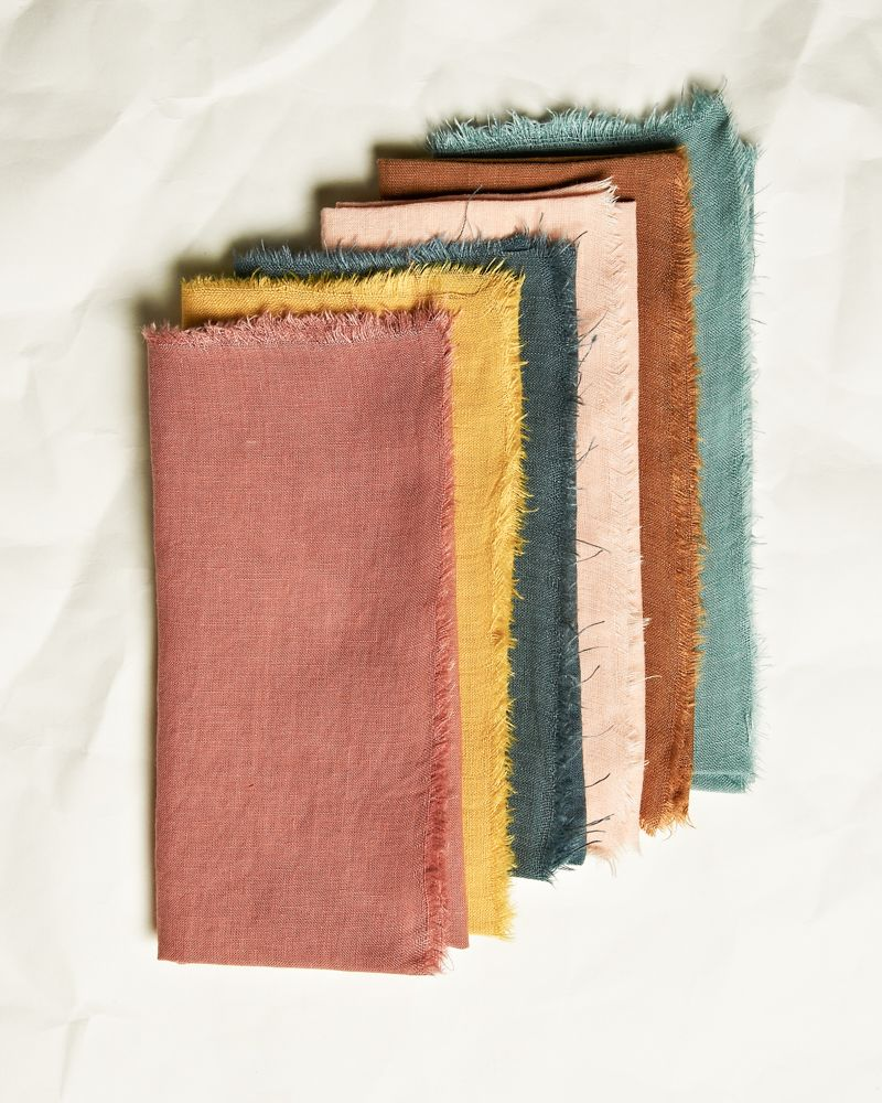 Set of 6 linen napkins - Assorted