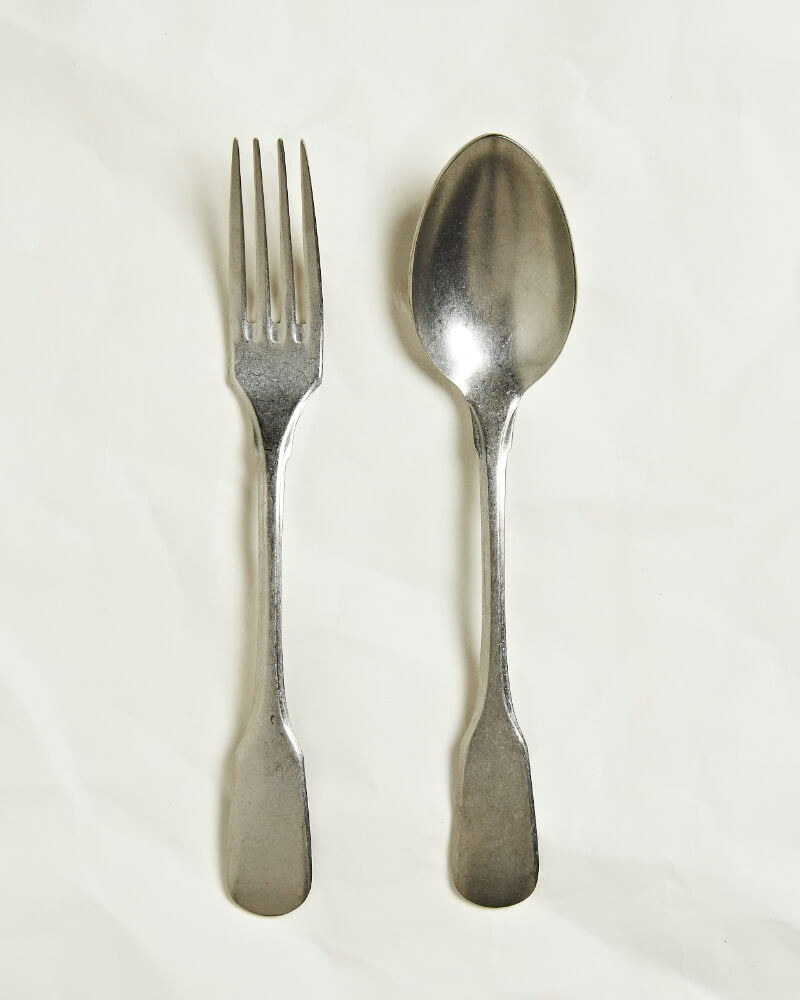 Vintage serving fork and spoon set