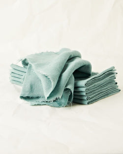 Set of 6 linen napkins in Seaglass