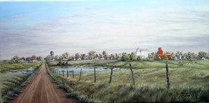 Prairie Paradise Stretched Canvas by Dan Reid