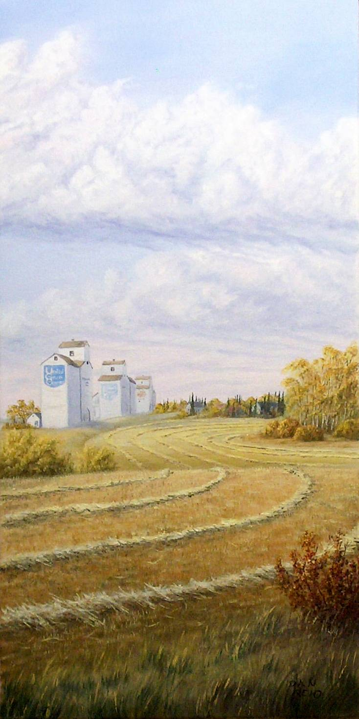 Bountiful Harvest Stretched Canvas by Dan Reid