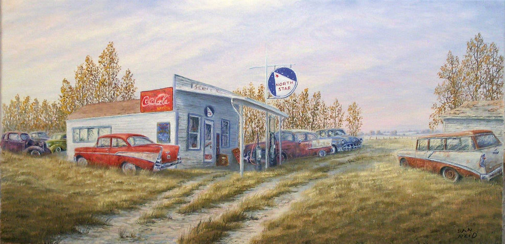 North Star Station Stretched Canvas Artwork by Dan Reid