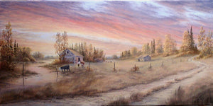 Watering Hole Stretched Canvas by Dan Reid