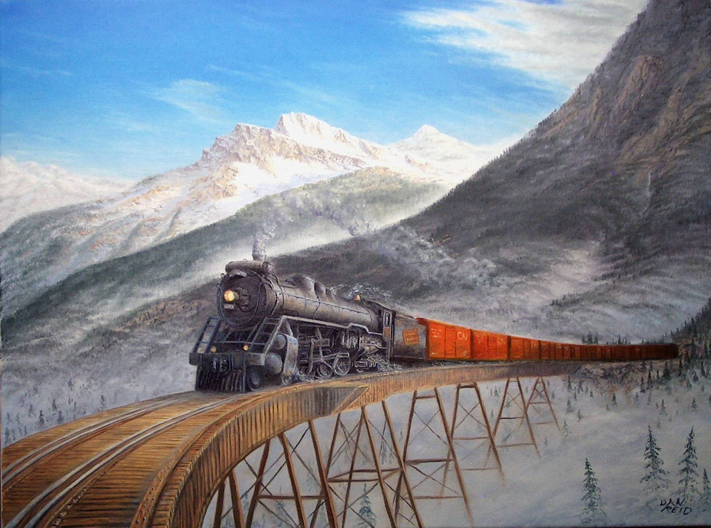 Above the Mist Stretched Canvas Artwork by Dan Reid