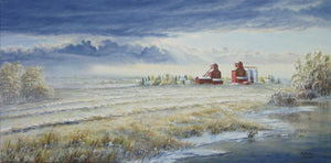 First Snow Stretched Canvas by Dan Reid
