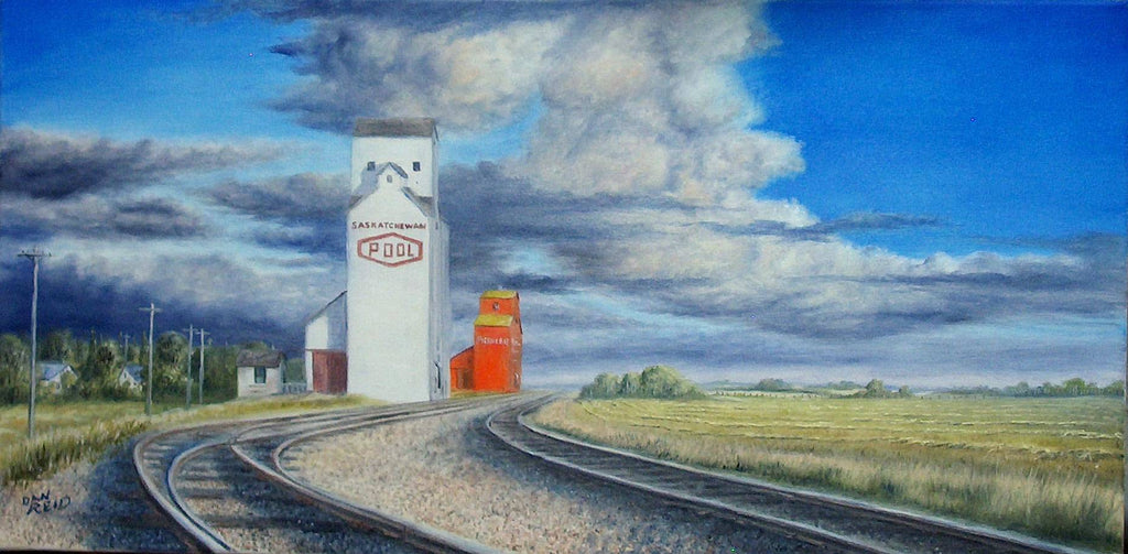 Along the Tracks Stretched Canvas by Dan Reid