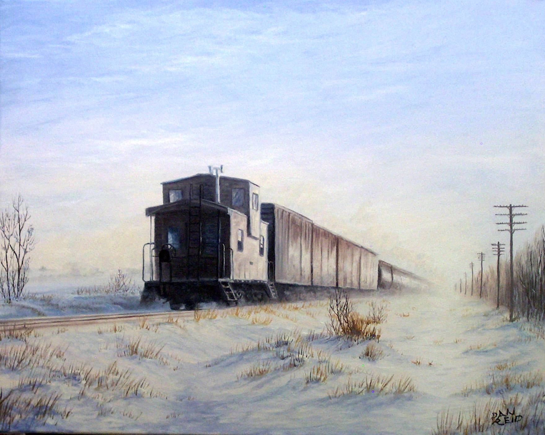Into the Morning Mist Stretched Canvas Artwork by Dan Reid