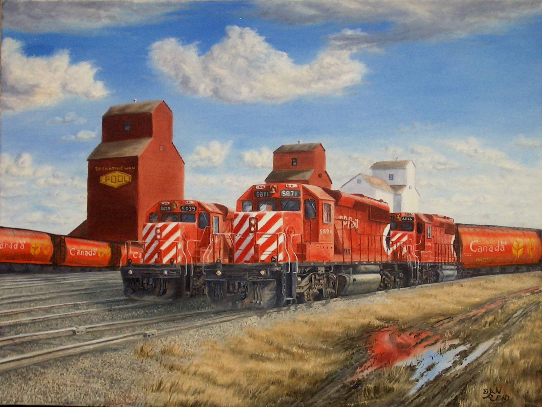 CP Engines Stretched Canvas Artwork by Dan Reid