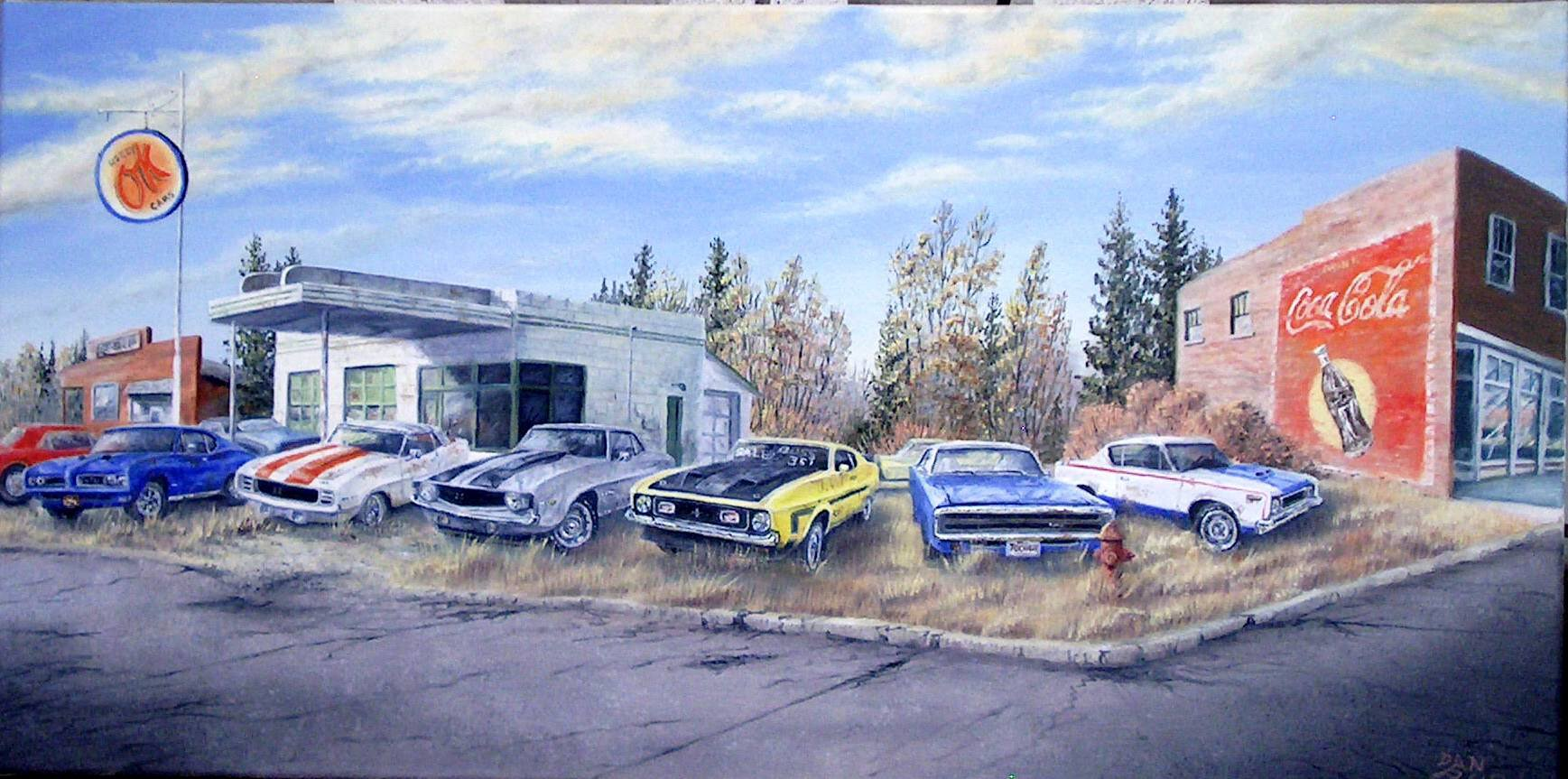 Used Muscle Stretched Canvas Artwork by Dan Reid