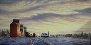 Sunrise Down the Tracks Stretched Canvas by Dan Reid