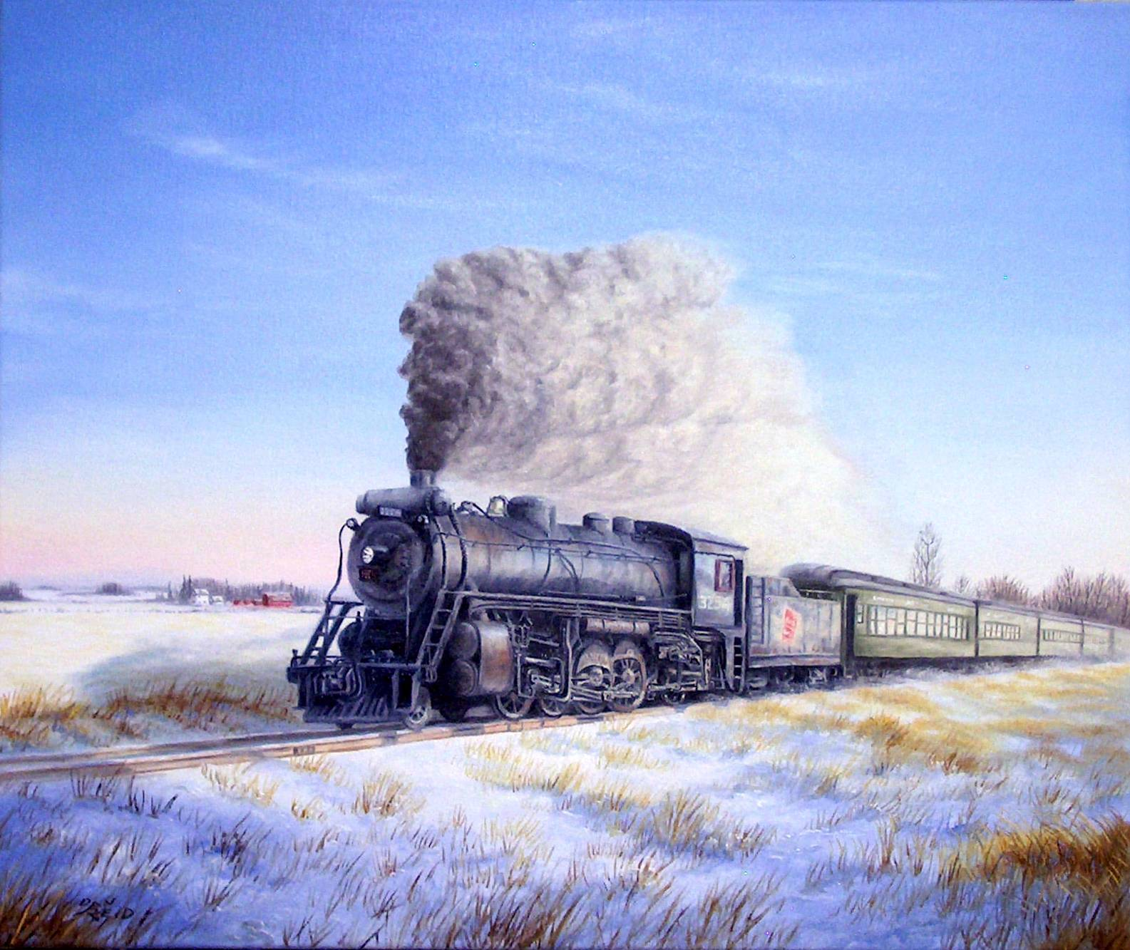 A Crisp Winter's Morning Stretched Canvas Artwork by Dan Reid