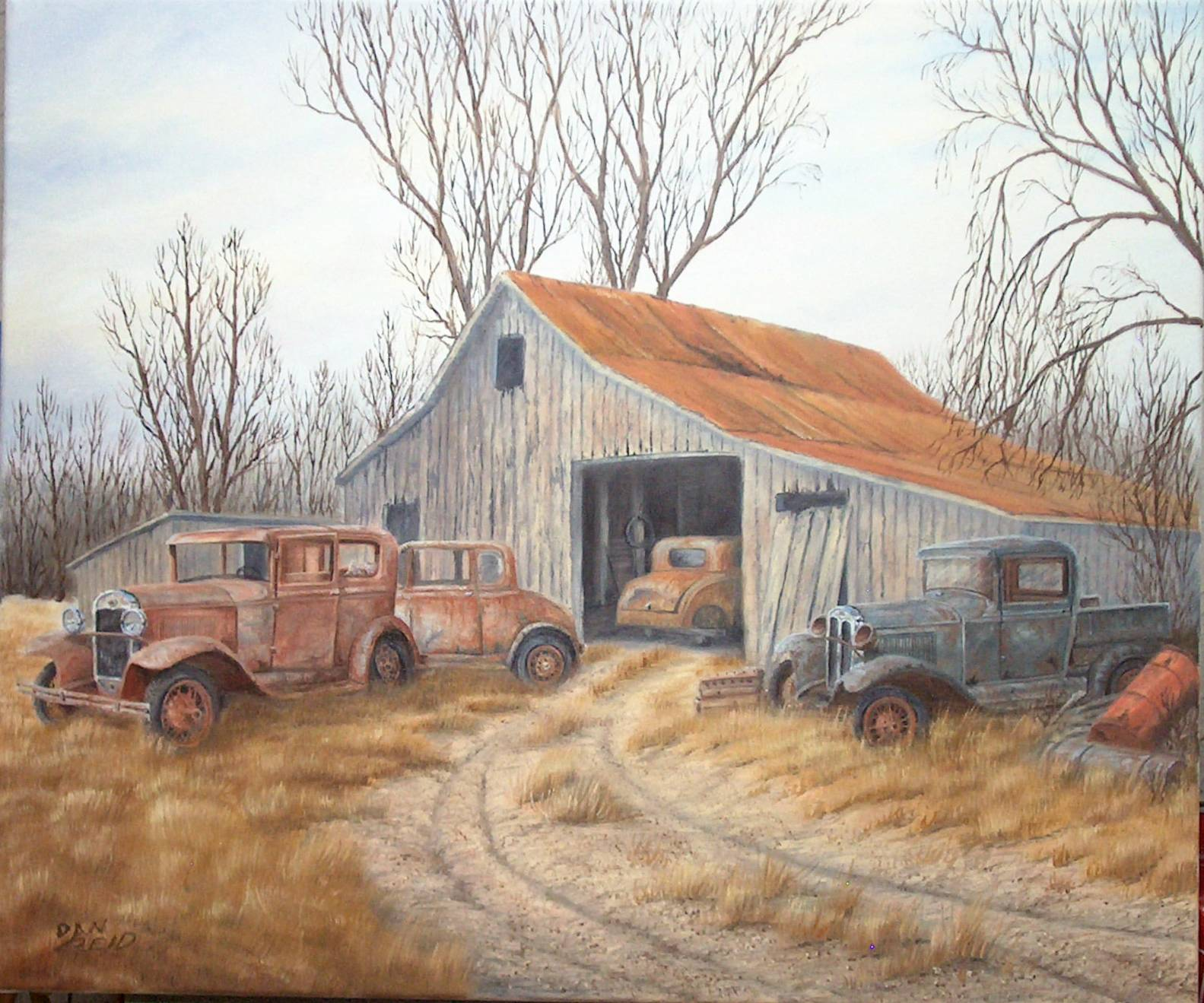 Country Retreat Stretched Canvas Artwork by Dan Reid