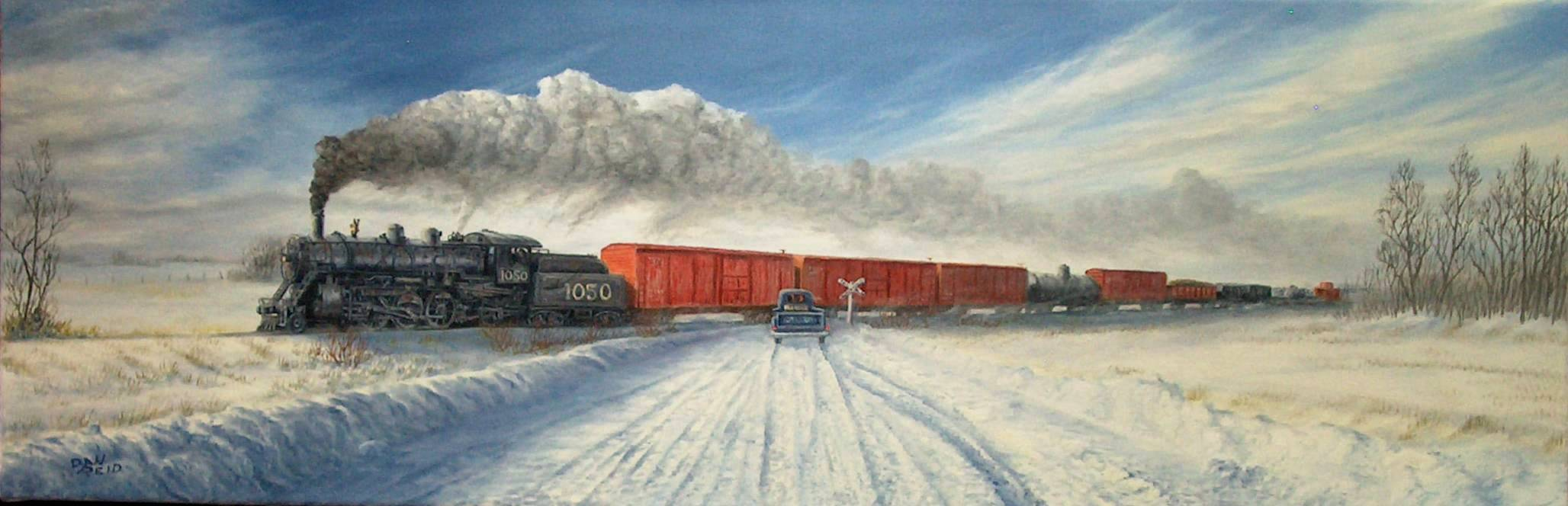 Cold Crossing Stretched Canvas Artwork by Dan Reid