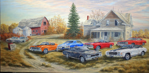 Chevelles For Sale Stretched Canvas Artwork by Dan Reid