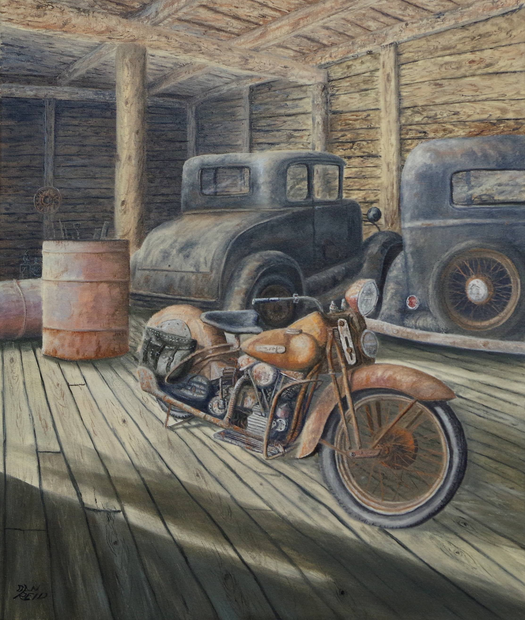 Barn Find Canvas Stretched by Dan Reid