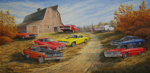 Barnyard Beauties Stretched Canvas Artwork by Dan Reid