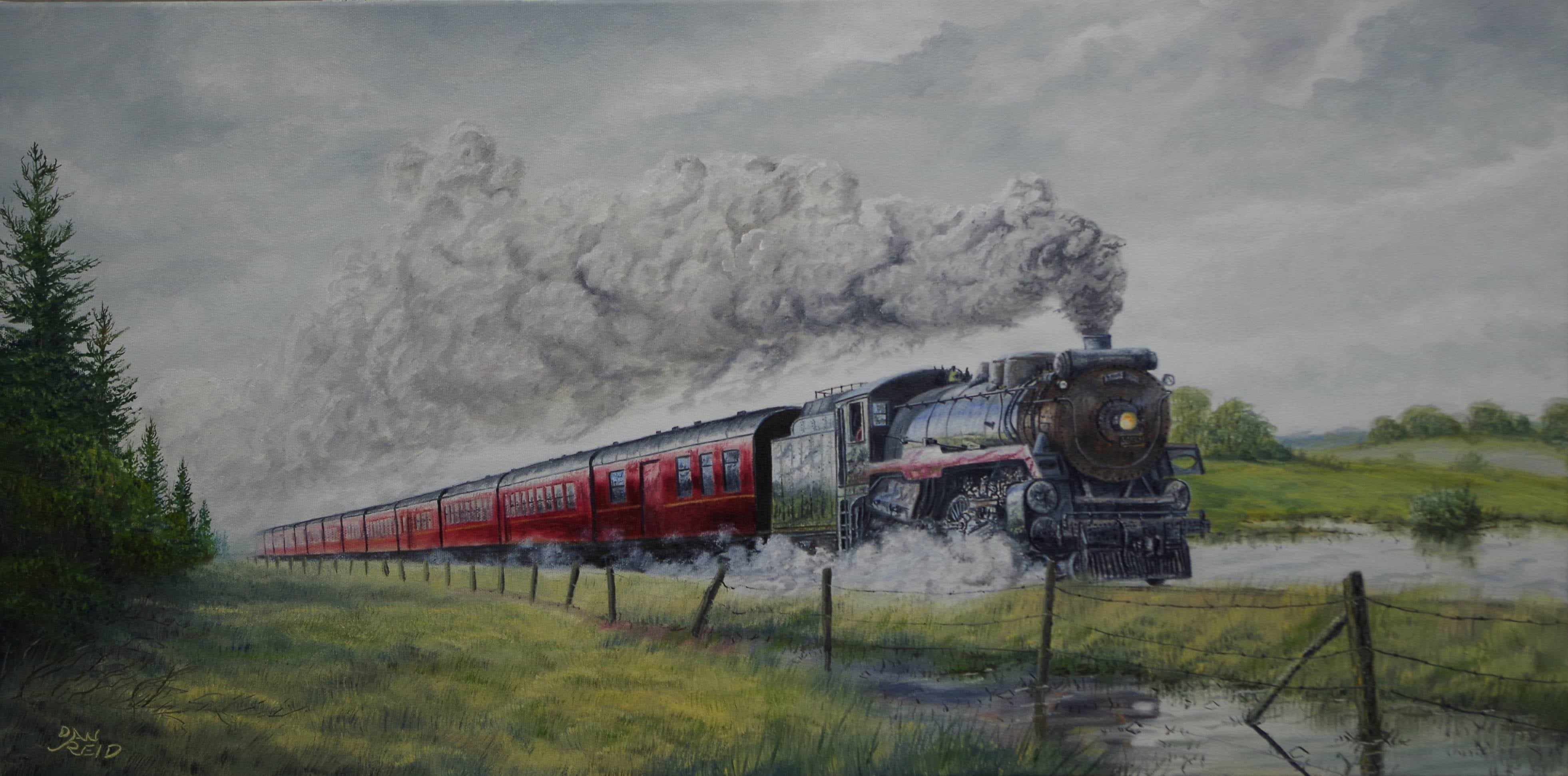 Heading West Stretched Canvas Artwork by Dan Reid