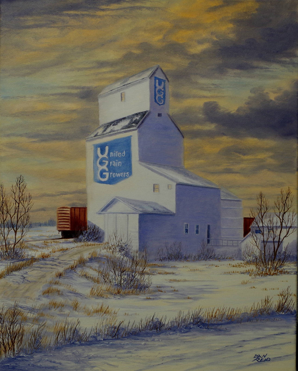 UGG Elevator in Winter Stretched Canvas by Dan Reid