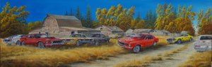 Mustangs in the Pasture by Dan Reid