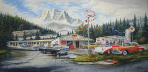 Belair Motel Stretched Canvas Artwork by Dan Reid
