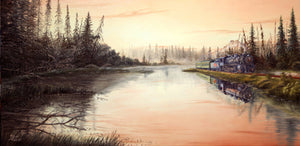 Reflections of an Early Sunrise Stretched Canvas Artwork by Dan Reid