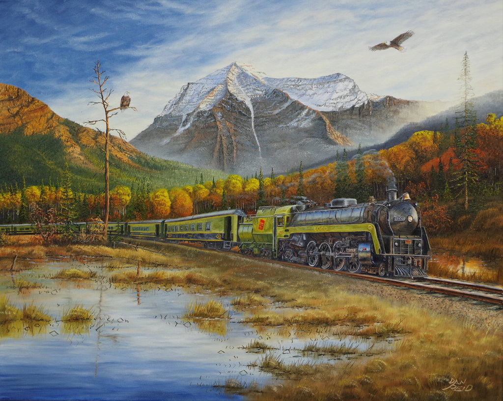 6060 Passing Mount Robson Stretched Canvas by Dan Reid