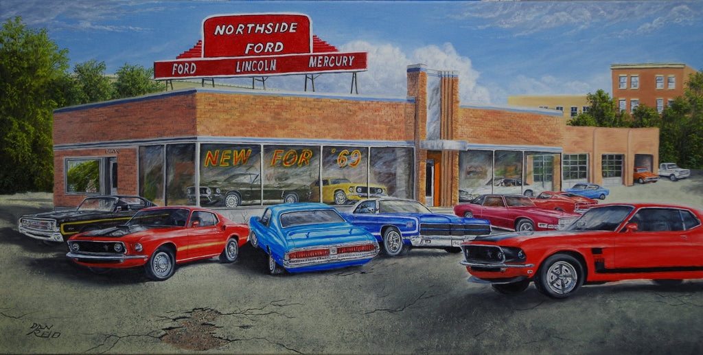 Ford Dealership 69 by Dan Reid