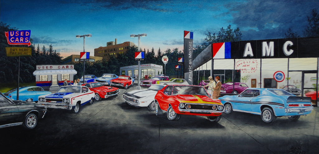 AMC Dealership Stretched Canvas Artwork by Dan Reid