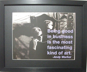 Andy Warhol-Being good in Business