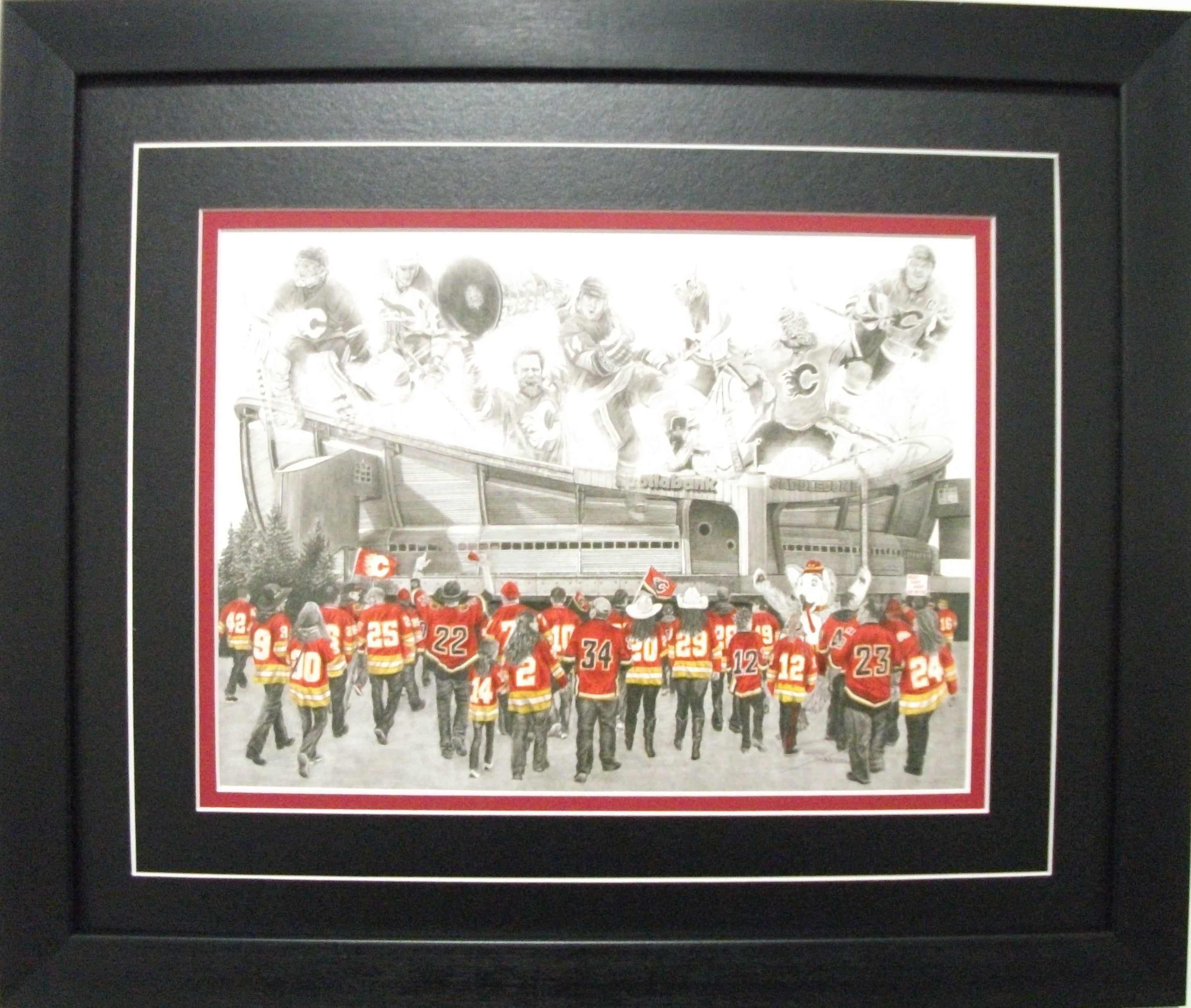 "Calgary Flames ""C of Red"" Game Day Series  by Jeremy Bresciani"