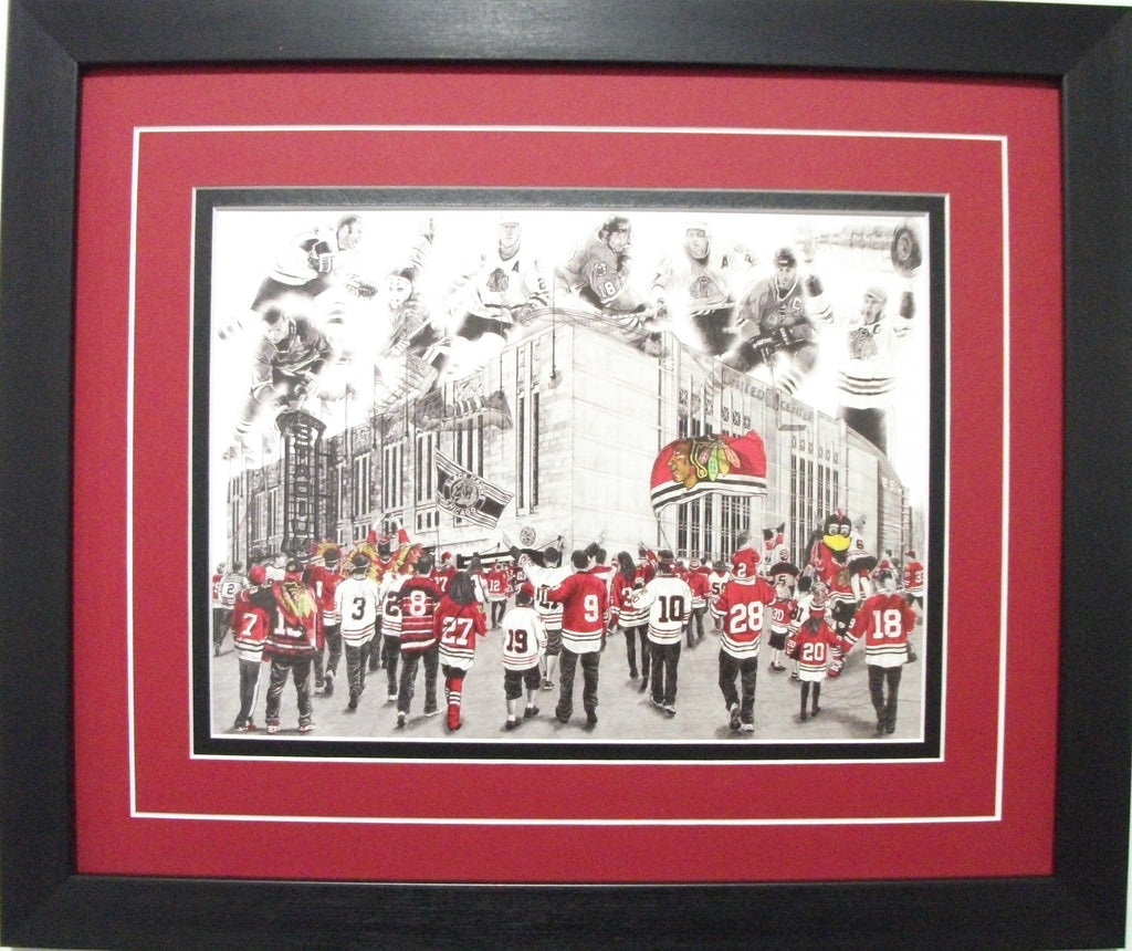 "Chicago Black Hawks ""Red Reign"" Game Day Series by Jeremy Bresciani"
