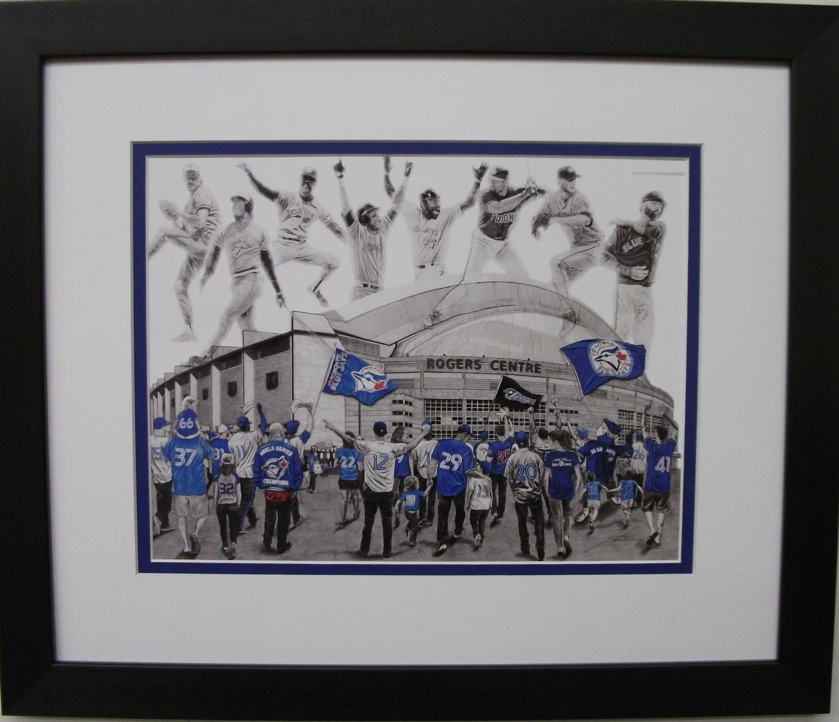 "The Toronto Blue Jays ""Hustle and Heart""   Game Day Series by Jeremy Bresciani"