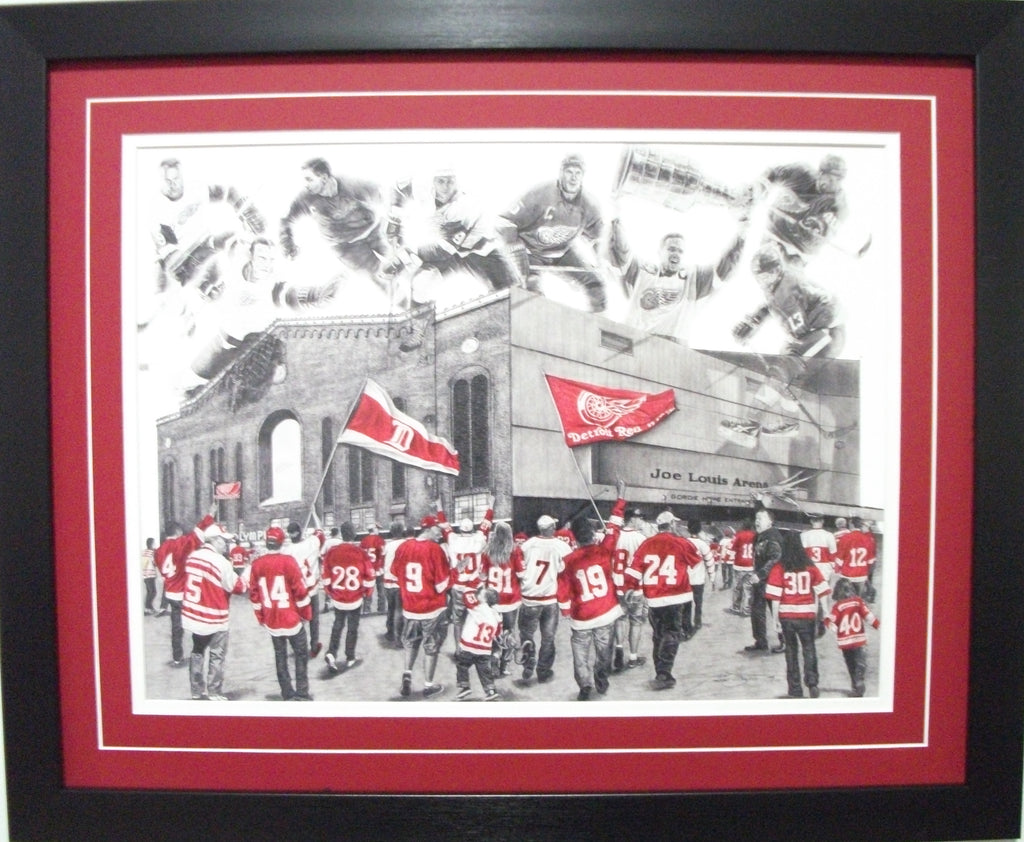 "Detriot Red Wings "" Hockeytown"" Game Day Series by Jeremy Bresciani"