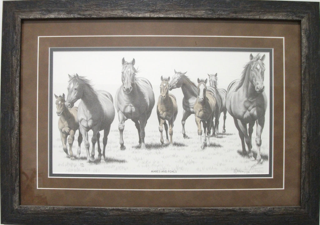 Mares and Foals by Bernie Brown