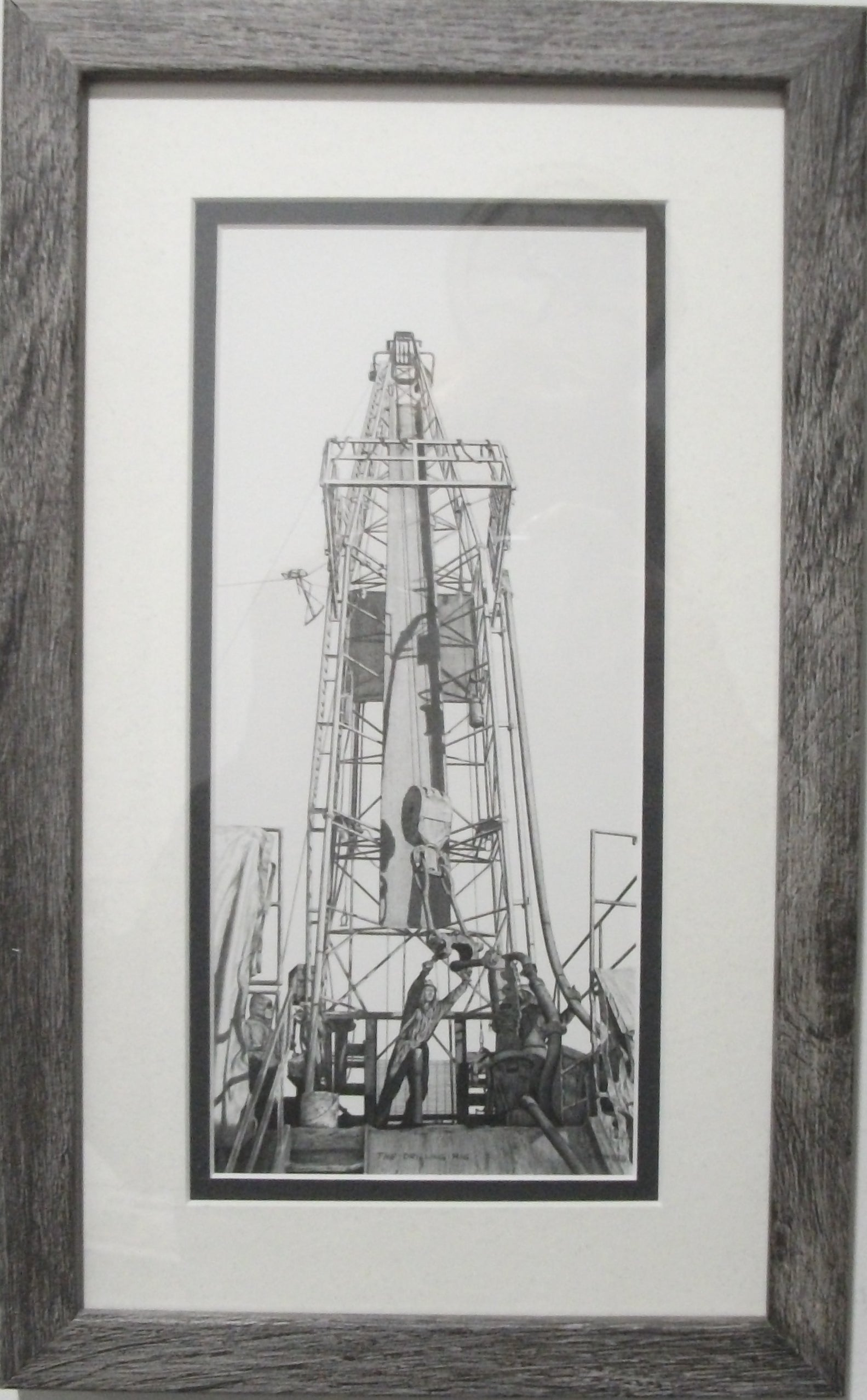 The Drilling Rig by Bernie Brown