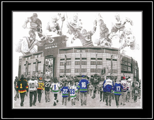 Vancouver Canucks Game Day Series by Jeremy Bresciani