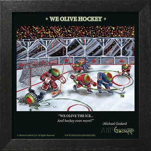 We Olive Hockey by Michael Godard