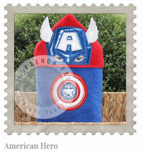 American Hero Hooded Bath Towel