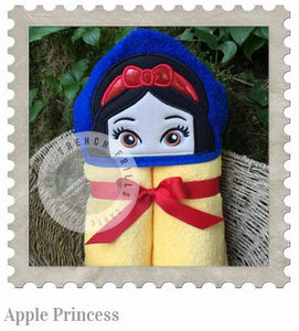 Apple Princess Hooded Bath Towel