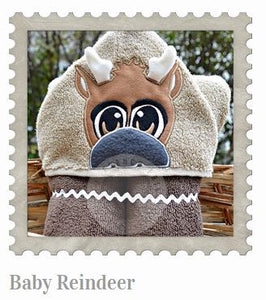 Baby Reindeer Hooded Bath Towel