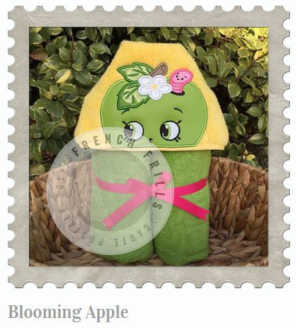 Blooming Apple Hooded Bath Towel