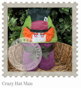 Crazy Hat Man Hooded Bath Towel