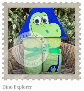 Dino Explorer Hooded Bath Towel