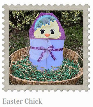 Easter Chick Hooded Bath Towel