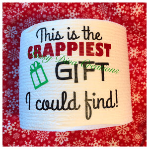 """This Is The Crappiest Gift I Could Find"" Christmas Toilet Paper"