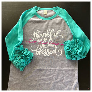 Copy of Thankful & Blessed Child's Raglan