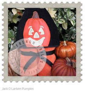 Jack O Lantern Pumpkin Hooded Bath Towel