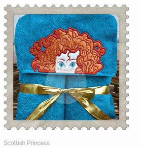 Scottish Princess Hooded Bath Towel