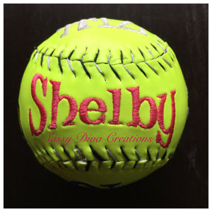 Embroidered Softball - One Cover